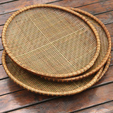 handmade bamboo dustpan bamboo weaving crafts smoked bamboo sieve seive ZhuBian bamboo fruit basket household