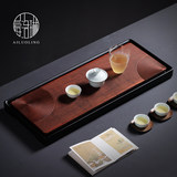 Caroline, whole flat heavy bamboo tea plate rectangular household simple drainage tea table tray solid wood dry bubble dish