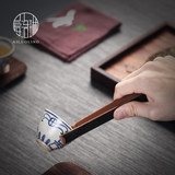 Ai Luolin Tea ceremony zero with natural bamboo tea clips Anti-scalding cup holder handmade bamboo box six gentlemen accessories