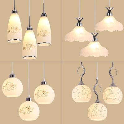 餐厅吊灯现代简约创意三头饭厅宜家玻璃球单头吧台店铺个性灯具