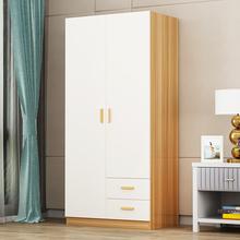 两门衣柜实木2门3门简约现代经济型组装木质单人柜子双门衣柜衣厨