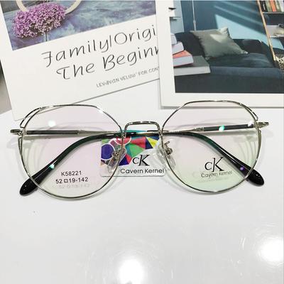 CK时尚金属镜架超轻潮男女款个性全框平光眼镜可配近视镜框K58221