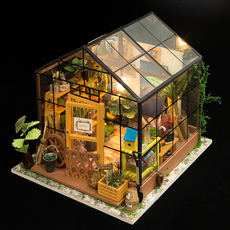 If state diy cottage art house Kathy flower house hand-assembled model creative new year gift to send girls girlfriends