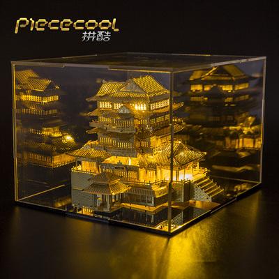 拼酷3D立体金属拼图成人玩具diy拼装模型建筑滕王阁生日礼物创意