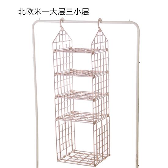 橱柜置物架宿舍衣柜挂新品创意折叠衣柜分层收纳架衣物整理架多层
