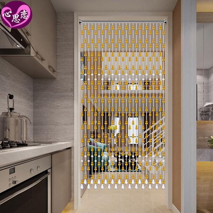珠帘门帘水晶帘子风水葫芦客厅隔断大门对卫生间卧室挂帘免打孔