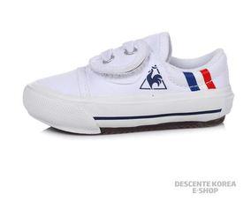 韩国代购Lecoq sportif/公鸡18春儿童帆布轻质运动板鞋Q7316KKD41