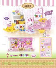 Cute Mengmeng Rabbit 5501 Room Furniture Kitchen Suit Simulates Mixed Batch of Family Life Toys