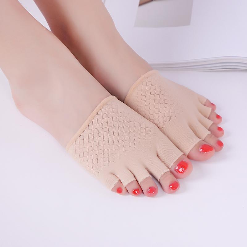 五指袜女夏季前脚掌袜子女式天鹅绒半截袜套薄款硅胶防滑浅口船袜