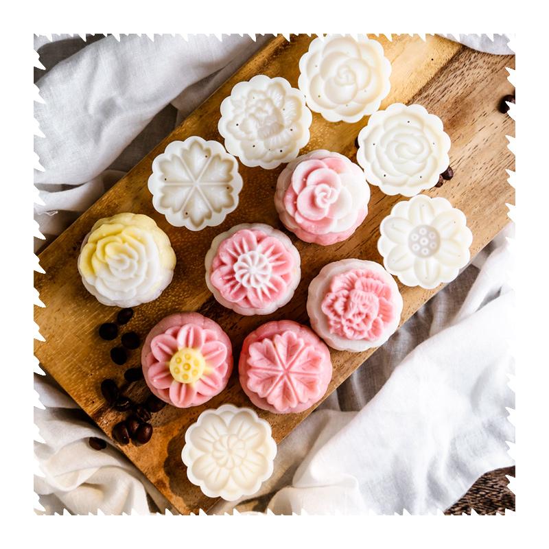 月饼模具家用不粘做绿豆糕的糕点冰皮手压式烘焙点心压花食品模子