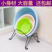 浴室卫生间放盆架子落地式脸盆架婴儿洗澡盆收纳架厨房整理置物架