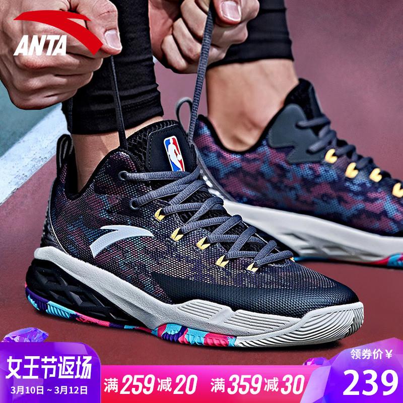安踏篮球鞋男鞋官网2019新汤普森kt4球鞋NBA欧文毒液5战靴运动鞋