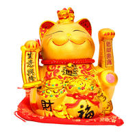 Large golden electric shake hand lucky cat cashier counter business booming rich cat ornaments shop opening gift
