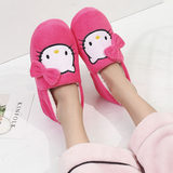New winter cotton slippers female cartoon cat soft bottom package with heavy-bottomed non-slip shoes month of shoes women warm indoor home