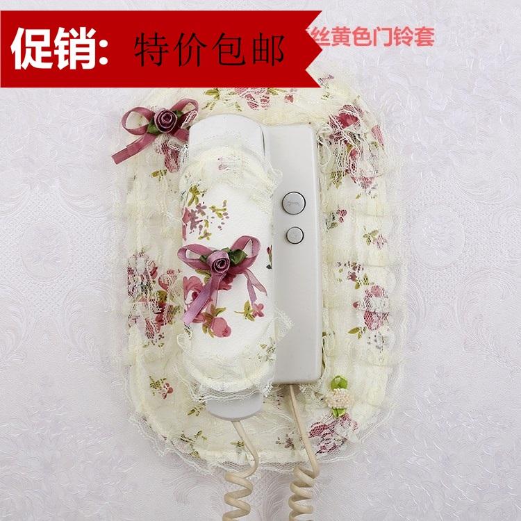 欧式门铃防尘套楼房门铃电话套对讲门铃套布艺门铃罩 门铃装饰贴