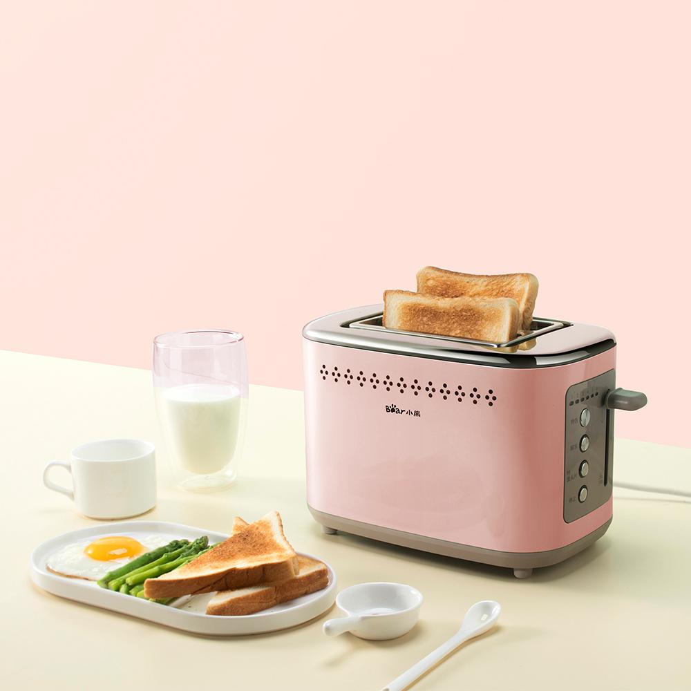 Bear/小熊 DSL-C02D2多士炉烤面包机家用2片不锈钢土吐司机早餐机