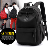 Fashion couple shoulder bag male high school student bag female leisure backpack men's large capacity computer bag travel bag