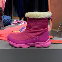 QUJR保暖防水短靴棉靴2018迪卡侬儿童雪地靴女童男童靴子春秋童靴