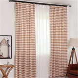 Plaid curtain office living room bedroom partition study bay window balcony hook curtain curtain Nordic fabric