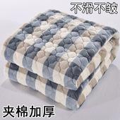 法兰绒毛毯加厚单人保暖绒毯子冬季双人珊瑚绒床单单件法莱绒双层图片