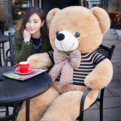 毛绒玩具泰迪熊4岁5布娃娃瞌睡熊一人高2米大号熊玩偶女现货1岁3