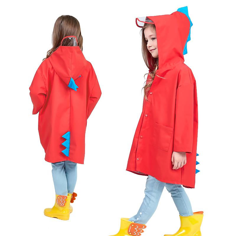 儿童雨衣小孩幼儿园雨衣男女童小恐龙防水小童雨披小学生宝宝雨衣