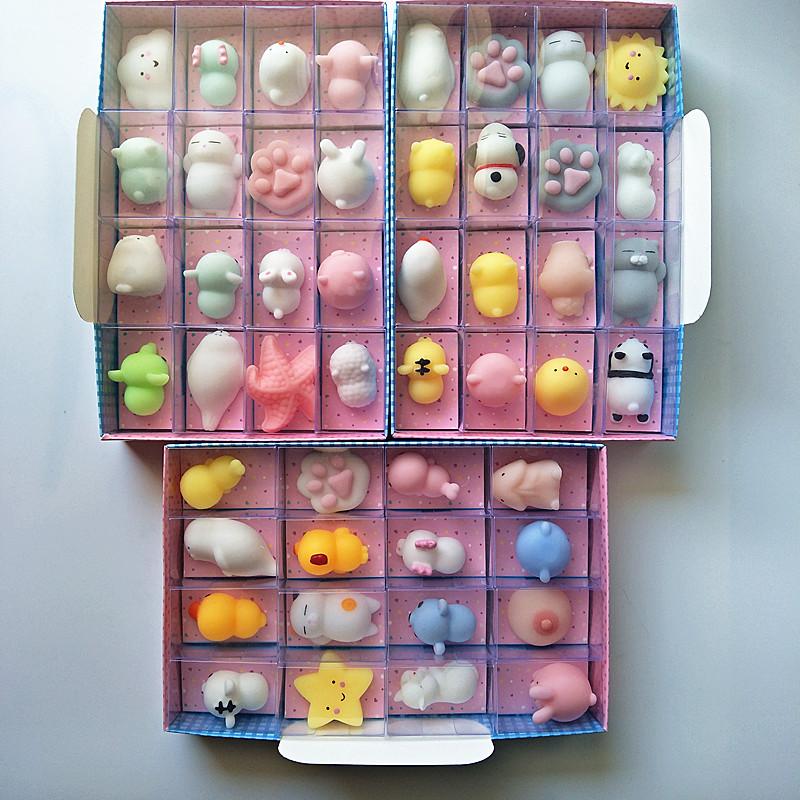 创意小超萌团子捏捏乐海豹君减压发泄解压玩具摆件套装礼物