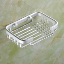 肥皂架太空铝香皂架放肥皂盒 网架子置物架壁挂式打孔肥皂篮挂墙