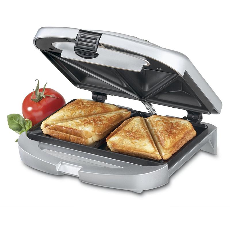 美国Cuisinart 不粘双面烤三明治烤面包土司机煎蛋机电饼铛