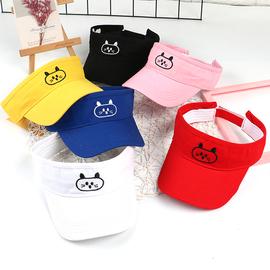 夏季儿童防晒空顶帽子韩版男宝宝遮阳太阳帽女孩韩版可爱鸭舌凉帽图片