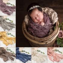 新生儿摄影道具创新蕾丝毛边裹布婴儿拍照道具儿童影楼服装
