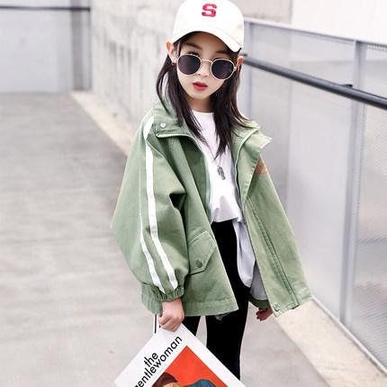 女童春装外套2019新款洋气童装韩版儿童春秋上衣中大童休闲夹克潮