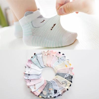新生婴儿袜子夏季薄款纯棉儿童网眼短袜0-1-3岁6-12个月宝宝袜子