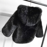 Children's fur coat winter water mink boy cotton jacket warm padded cotton baby girl sweater sweater