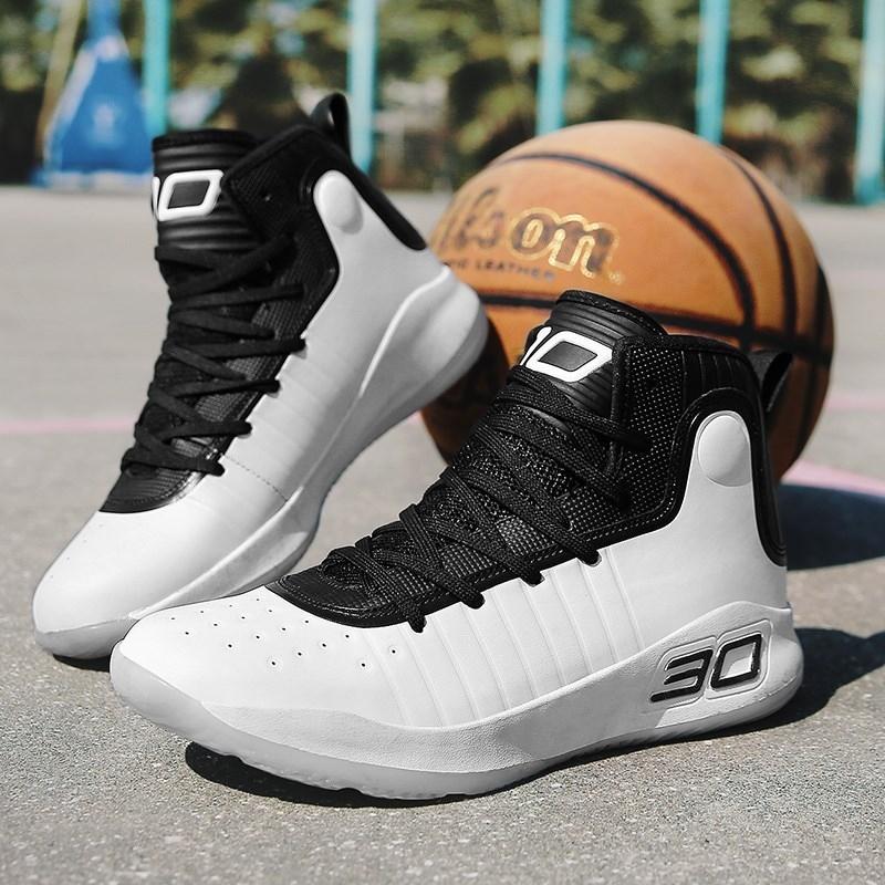夏季10儿童高帮篮球鞋12男童14男孩透气白色运动鞋小学生15岁库里