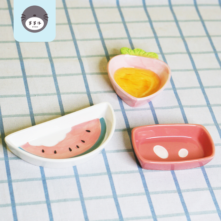 仓鼠陶瓷食盆通心粉食盆兔兔龙猫零食盘陶瓷食盆 全场19.9包邮