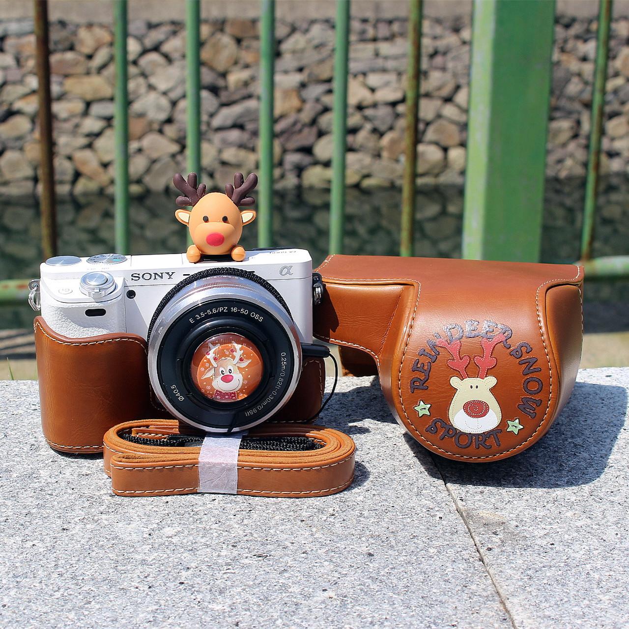 適合佳能m6m50m100索尼a5100a6000相機套相機包保護套殼可愛小鹿