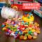 实木宝宝玩具1-3岁益智力串珠子婴儿童穿线积木3-6岁男女小孩木珠