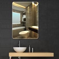简约无框浴室镜卫生间贴墙镜子壁挂粘贴化妆镜洗手间免打孔卫浴镜