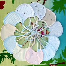 新生儿围嘴宝宝系带口水巾纯棉夏季薄初生儿童围兜饭兜婴儿口水巾