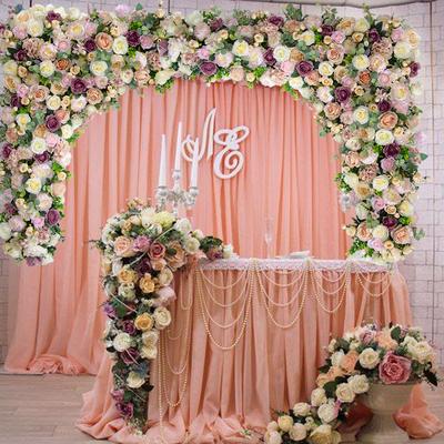 婚庆店面墙面装饰仿真花绢花三角排花拖尾摄影背景道具婚礼布置新品特惠