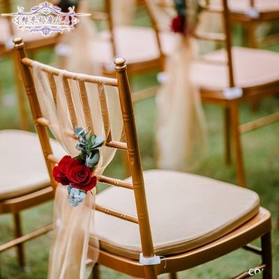 酒店家具飯店椅婚慶椅婚禮餐椅宴會鋁合金金色竹節椅子正品折扣