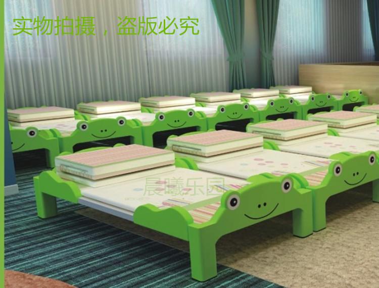 幼儿床卡通可折叠床幼儿园儿童午睡床塑料叠叠床儿童小床小学生床