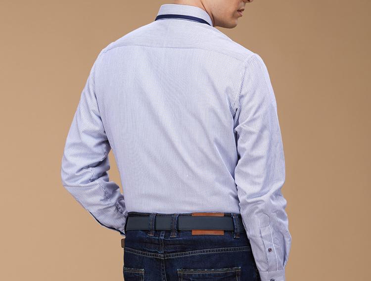 国内单撤专柜剪标男士衬衫加绒加厚秋冬季中青年休闲长袖保暖衬衣