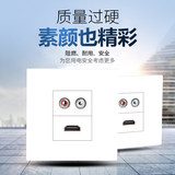 86 type audio HD socket nga itom nga HDMI audio welding socket panel multimedia socket yawhite panel