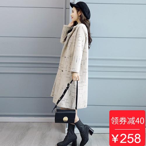 反季清仓2018秋冬新款女士韩版宽松显瘦呢大衣时尚中长款毛呢外套