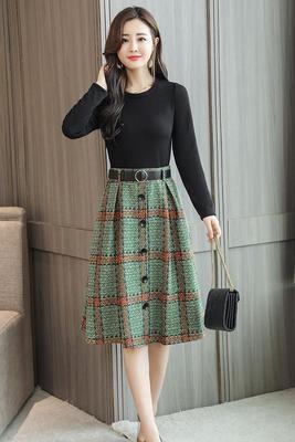相约/四季2018年秋装新款艾诺丝秋季女装尚品专柜正品淑美连衣裙