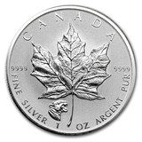 2015-18 Canadian Maple Leaf 1 oz Memorial Silver Coin Rare Special Seal Edition Single