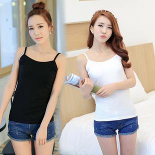 黑白色小吊带背心女短款外穿夏季百搭韩版上衣打底内搭性感吊带衫