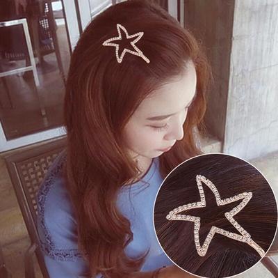 韩版少女心一字夹边夹简约耐久不掉色碎发夹刘海夹甜美彩色发夹